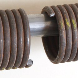 you are trying to leave for work but your garage door wont open thats when you see it the broken spring on your garage door dont panic crawford and - How To Open Garage Door With Broken Spring