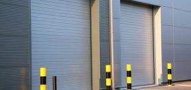 Photo of commercial garage doors installed by Crawford & Brinkman Door & Window Co.