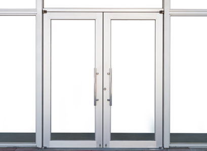 Glass Commercial Doors in East Peoria IL with a metal frame